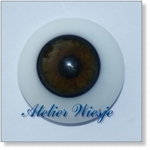 6210 - Eyes :  Masieve halfronde glas-ogen Hazel - Not available