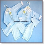 7611 - Clothing : Babypack With Bonnet - Blue