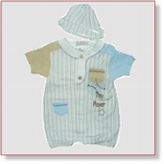 7634 - Clothing : Boys Romper with cap
