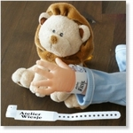 7742 - Accessories :  Hospital Wrist Band Sheet - White