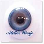 6280 - Eyes :  Masieve halfronde glas-ogen Hell - Blau - Not available