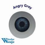 630300 - Eyes : Polyglass ogen  Angry Grey