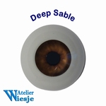 630600 - Eyes : Polyglass ogen  Deep Sable